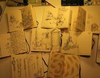 Moleksine sketchbooks