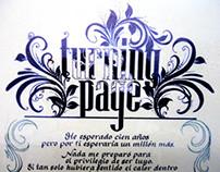 Cuadro caligrafia - calligraphy - por Jorge Pulido