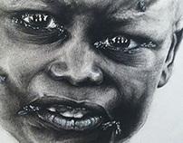 Drawing of an inspiring little boy