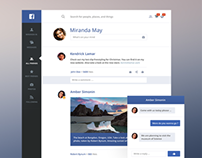 Facebook redesign light