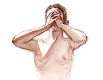 Watercolor life drawing