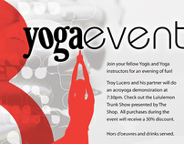Seattle Athletic Club Yoga Event Promotion