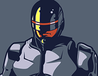 Robocop Illustration (Frank Miller Inspiration)