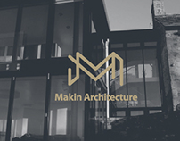 Makin Architecture Branding, logo and colorways.