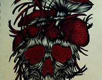 Shrooms Skull