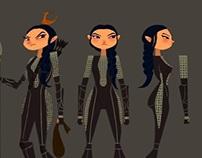 Model sheet Katniss