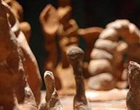 Instalación de Escultura ( Laguna de Alegría 2012)