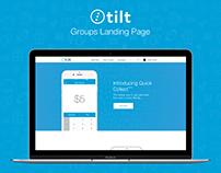Tilt - Landing page