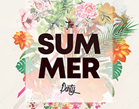 Summer Floral – Free PSD Flyer Template