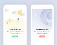 Error page concept illustration design