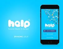 Help App UI/UX Design / Branding
