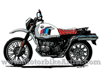 BMW R80GS PARIS DAKAR vintage motorcycle vector artwork