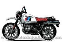 BMW R80GS PARIS DAKAR vintage motorcycle vector artwork