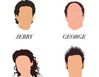 Seinfeld Minimalist Portraits