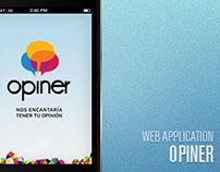Opiner - Web App