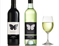 """Papillon"" - wine labels"