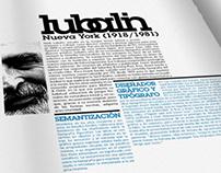 Herb Lubalin Exhibition / Brochure