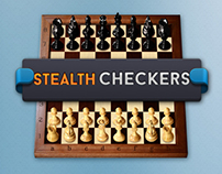 Stealth Checkers iOS game - UI/UX, Illustrations