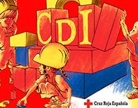 Diseño para sudadera Centros de Día Cruz Roja Española.