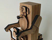 Laser Cut Bamboo Character