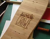 Swede&Crow Engraved Skateboard