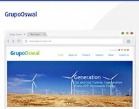 Grupo Oswal Website User Interface Design & Icon Design