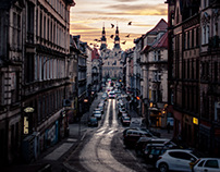 Dawn on Dluga Street