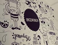 """Mural Restaurant """"Ongedwongen"""""""