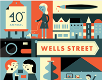 2014 Wells Street Art Festival Poster
