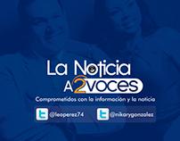"""Logotipo / Brochure """"La Noticia a 2 voces"""""""