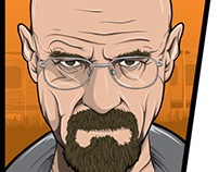 Breaking Bad GTA style t-shirt design