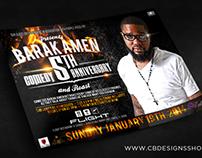"""Barak Amen 5th Comedy Anniversary"" | Club Flyer Design"