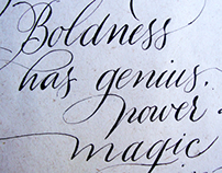 [Calligraphy] Copperplate
