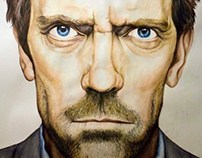 A1 portrait illustration of Dr. House