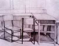 Chair's and Table's - handdrawing