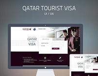 Qatar Tourist Visa - UI / UX