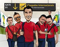 Caricatura Selección - Revista La Ruta del Hincha