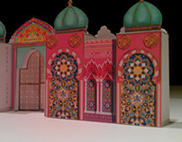 Muny Theater Set Models for Aladdin