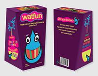 Packaging Design- Watfun water straws