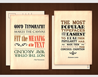 Typography Inspired Postcards & Packaging- Stypery