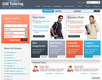 Tutoring Website Free PSD Template