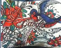 Dibujo En servilletas