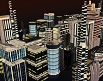 Low Poly - City Buildings - Game design #1 test