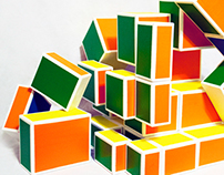Abstract Rubik's Cube Sculpture