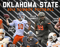 Oklahoma State Football Recruiting Graphics