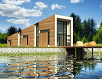 Conceptual Design of a small weekend cottages by a lake
