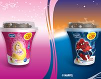 TV spot for new DANONE/DISNEY yogurt desserts (10/2013)