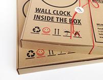 Package design for cardboard clock