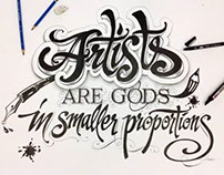 Hand-drawn Lettering time lapse video