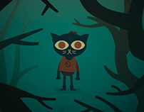 Night in the Woods Fan Art Print